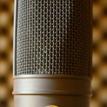 Close up of studio microphone