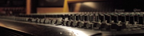 Studio mixer faders